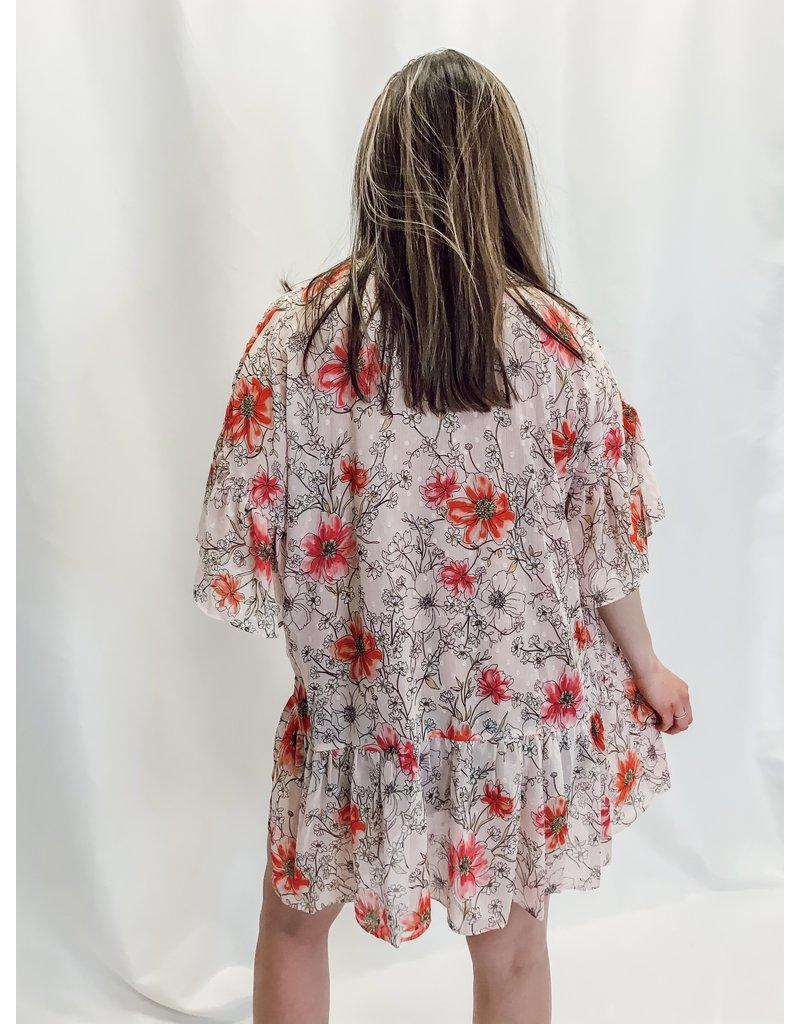 The Andrea Floral Chiffon Kimono