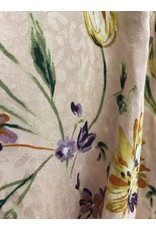 The April Floral + Leopard Front Tie Top