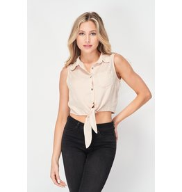 The Kelly Button Down Crop Top