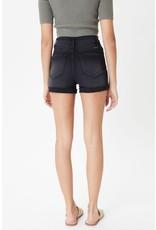The Surf's Up High Rise Denim Shorts - Black