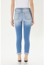 The Distressed Mid Rise Skinny