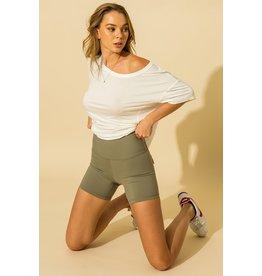 The David Biker Shorts - Olive