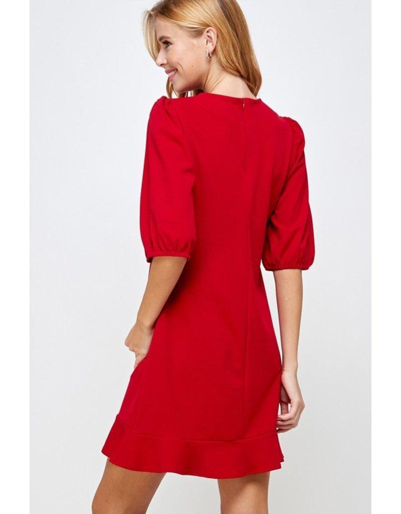 The Olivian Puff Sleeve Dress