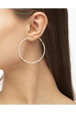 The Scarlet Gold Hoop Earrings In Pastel Mix