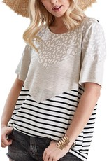 The Vale Leopard + Striped Tee