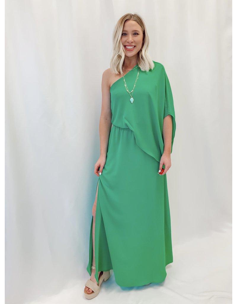 The Aruba One Shoulder Maxi Dress