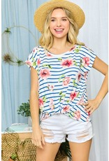 The Rico Floral + Striped Top