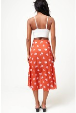 The Hawaii Floral Midi Skirt