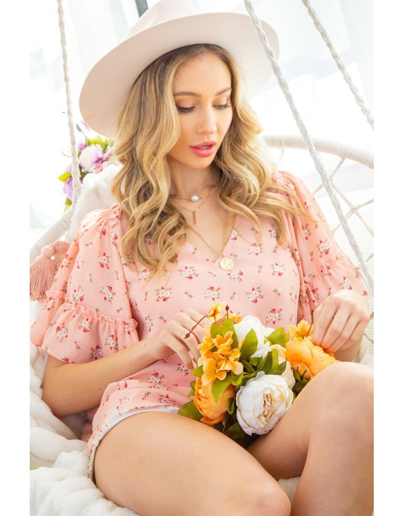The Cady Floral Print Top