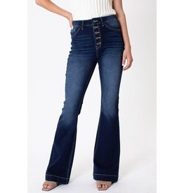 The Instincts Button Fly Flare Jeans