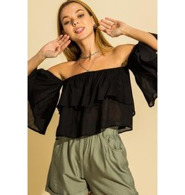 The Kimi Off The Shoulder Crop Top