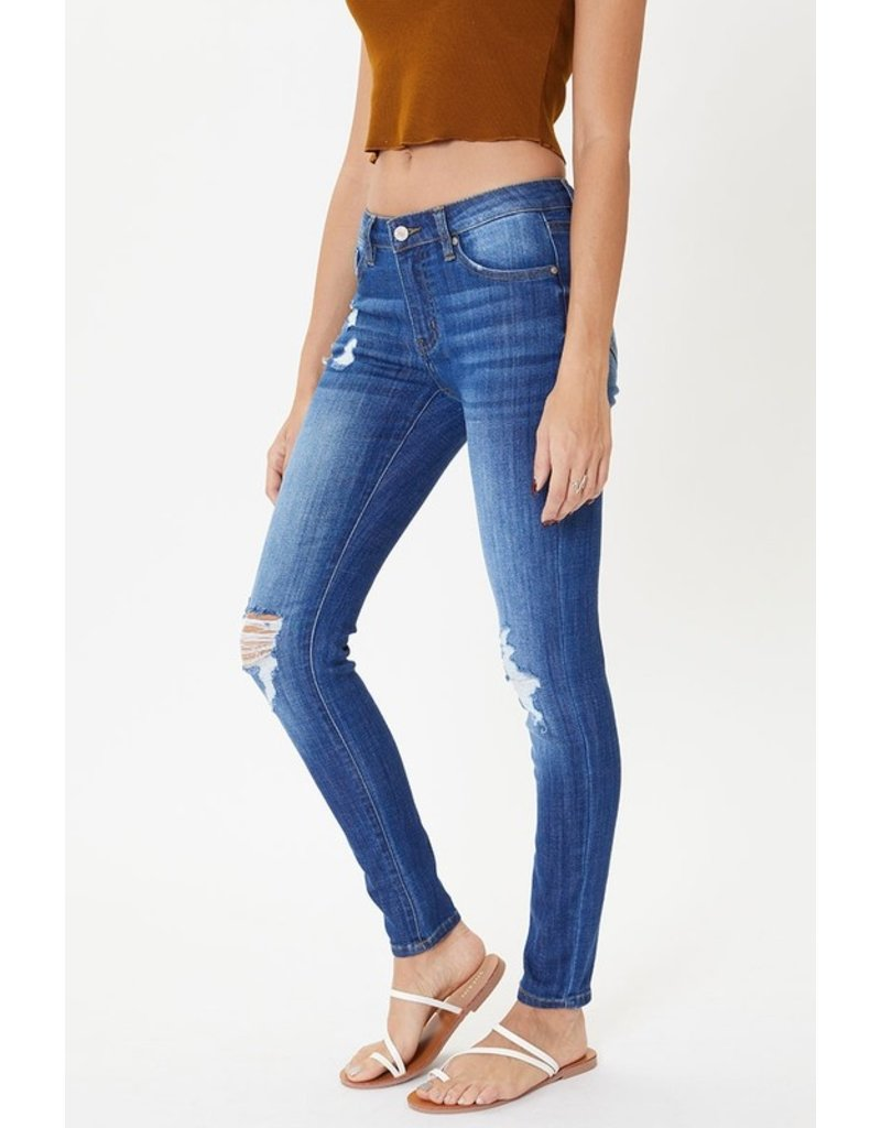 The Scotty Distressed Mid Rise Skinny