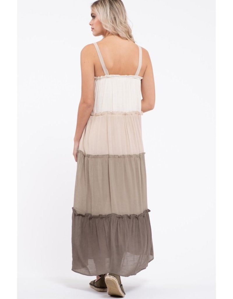 The Dundee Tiered Midi Dress