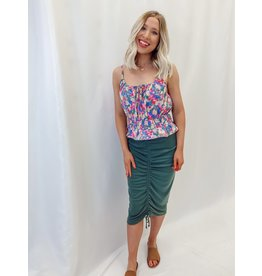 The Anastasia Ruched Midi Skirt