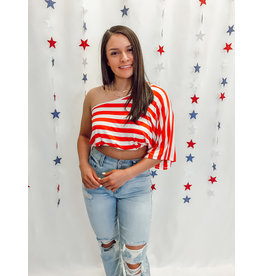 The You're A Firework One Shoulder Crop Top