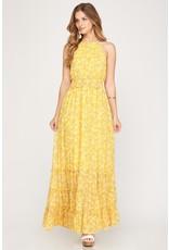 Little Miss Floral Maxi Dress