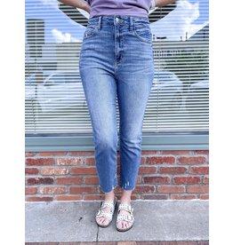 The Ally High Rise Straight Leg Jeans - Medium Wash
