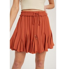 The Rosemary Ruffled Hem Skirt