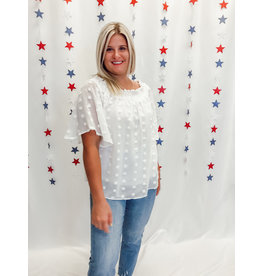 The Keira Swiss Dot Off The Shoulder Top