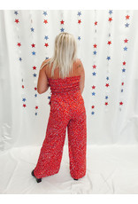 The Amy Printed Smocked Jumpsuit
