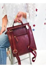 The Nadea Backpack - Burgundy