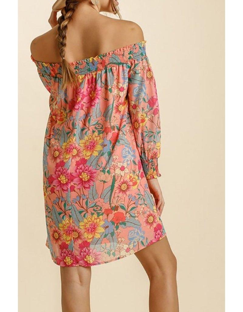 The Riley Off The Shoulder Floral Dress