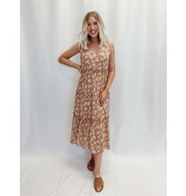 The Fulfilled Wishes Floral Midi Dress
