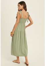 The Rogan Tie Shoulder Midi Dress