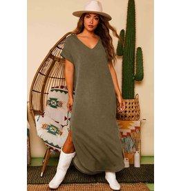 The Roan V-Neck Maxi Dress
