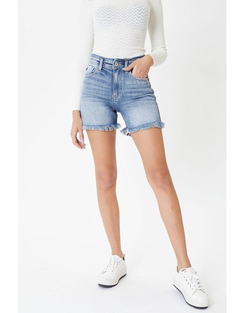 The Kayley Frayed Hem Denim Shorts