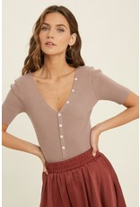 The Marleigh Button Front Ribbed Bodysuit