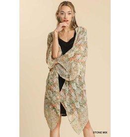 The Noland Floral + Leopard Kimono