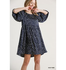 The Cleo Spotted Babydoll Dress
