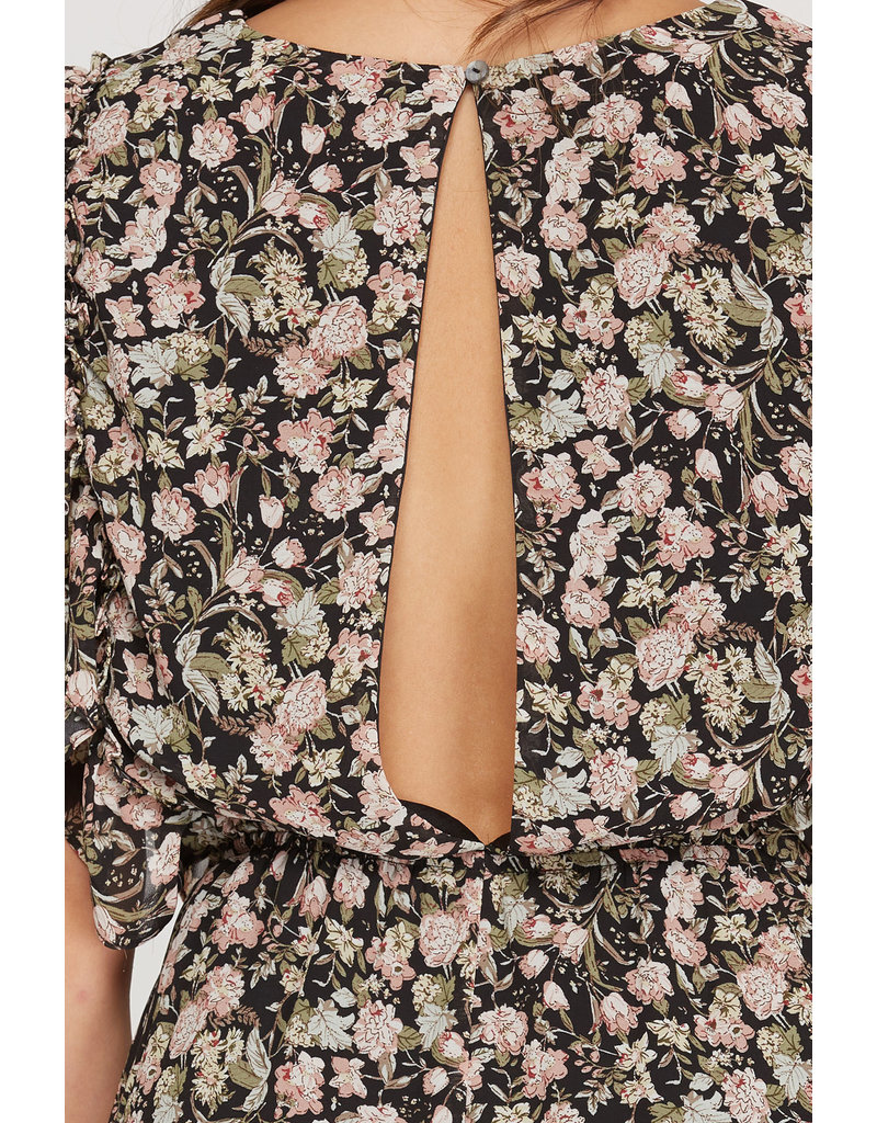 The Wileen Open Back Floral Romper