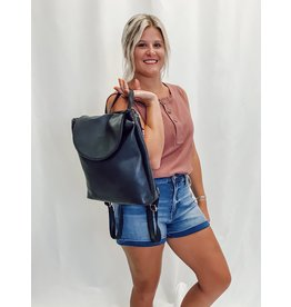 The Sloan Convertible Backpack - Navy