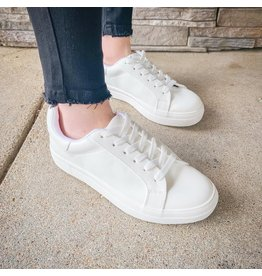 The Pulse Lace Up Sneakers - White