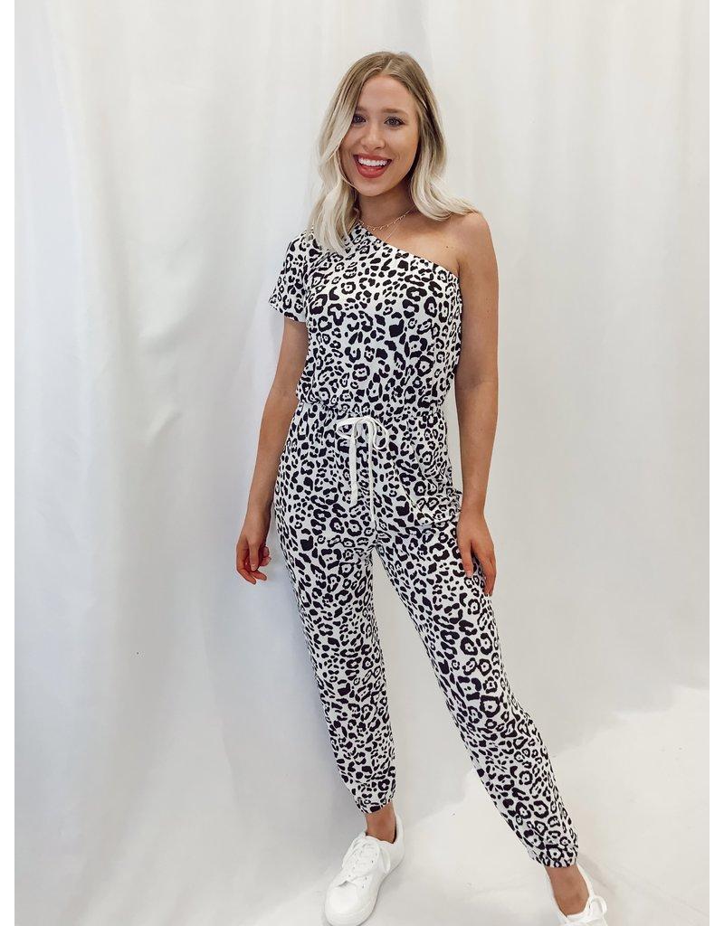 The Ozella One Shoulder Leopard Jumpsuit