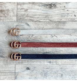 The Vivo Snake Embossed Belt - Thin