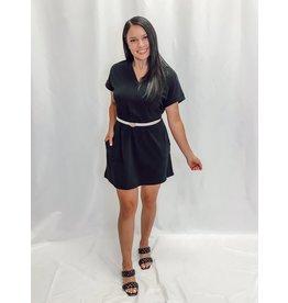 The Valdez Pocketed V-Neck Dress