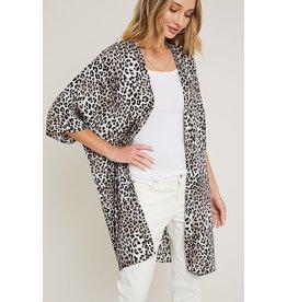 The Frankie Leopard Print Kimono