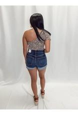 The Cheetah Girl One Shoulder Bodysuit