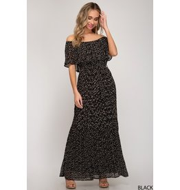 The Orchestra Off The Shoulder Printed Maxi Dress
