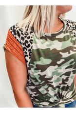 The Karon Camo + Leopard Top