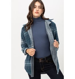The All The Feels Corduroy + Plaid Reversible Shacket