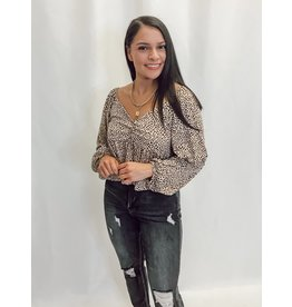 The Weslee Spotted Peplum Top