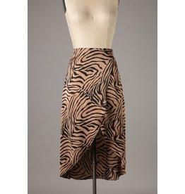 The Spencer Zebra Print Midi Skirt