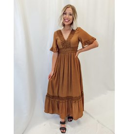 The Cambel Lace Trim Maxi Dress