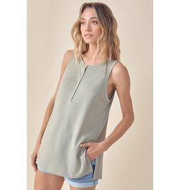 The Nobody But You Snap Button Tank