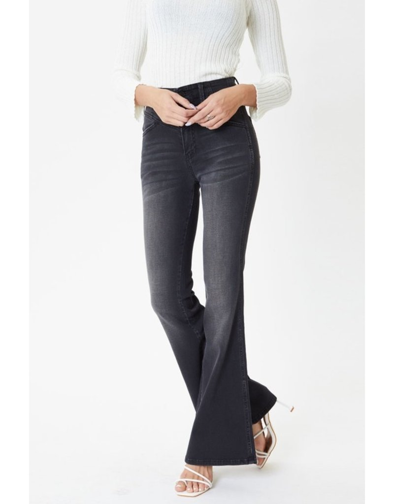 The Mahoney Ultra High Rise Flare Jeans - Black