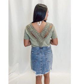 The Lisandra Crochet Lace Back Top